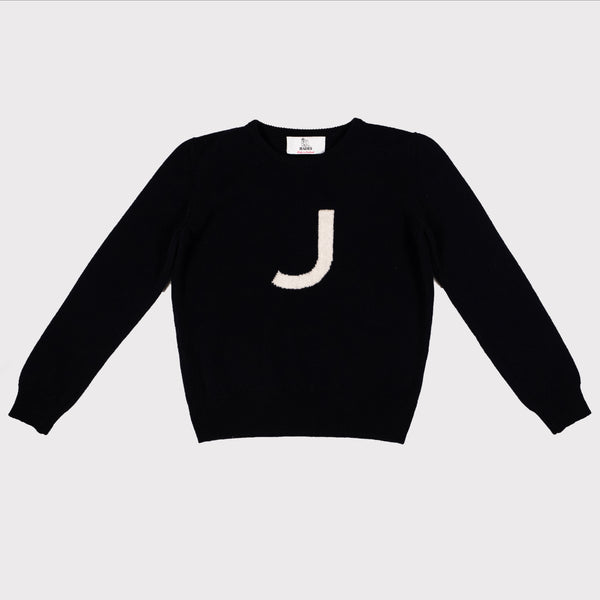 Alphabet letter jumpers J knit