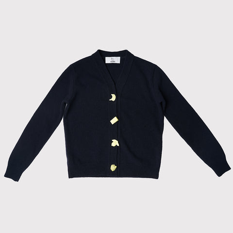 Carrington Cardigan | Navy | Pop Art Snacks- SOLD OUT