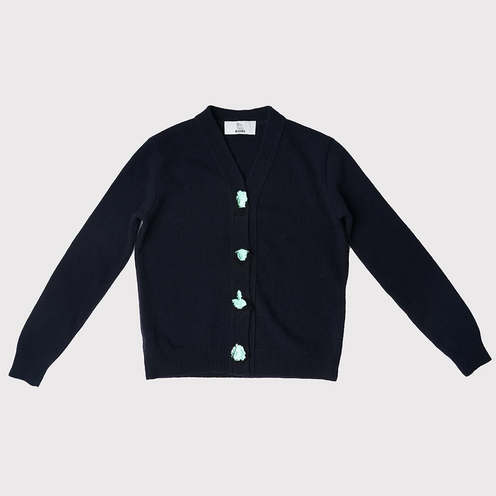 Carrington Cardigan | Navy | Greek Mythology