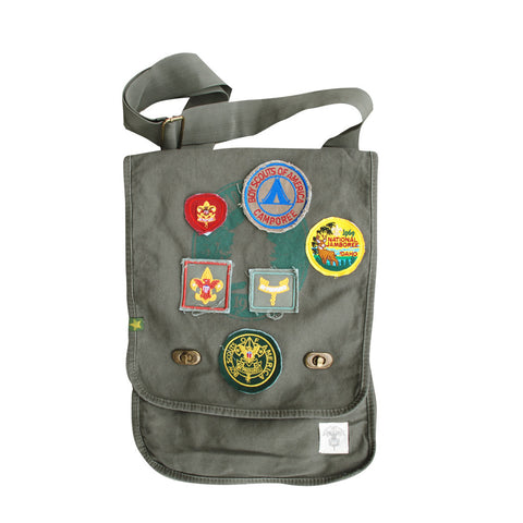 Liberty X Boy Scouts of America ®, Canvas Field Bag, Military Green with Patches