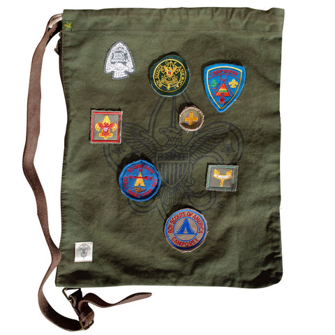 Liberty X Boy Scouts of America ®, Day Trippin' Bag, Military Green with Patches