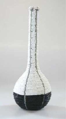 Beaded Vase - Two Tone - Small - Love Africa Decor & Gallery