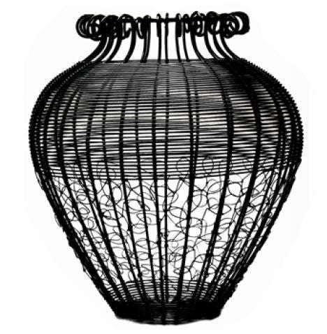 Wire Vase - Black - Large - Love Africa Decor & Gallery