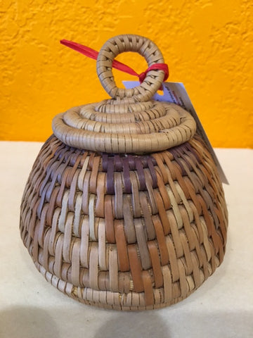 Grass Basket With Lid - XXS  - G - Love Africa Decor & Gallery
