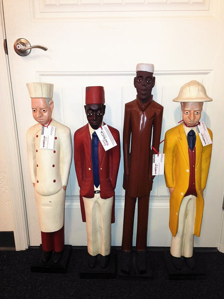 Colonial Style Carved Men - Large - Love Africa Decor & Gallery  - 1