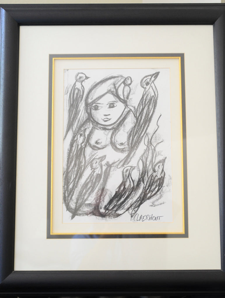 Charcoal Sketch by Master Artist Frans Claerhout - 1 - Love Africa Decor & Gallery