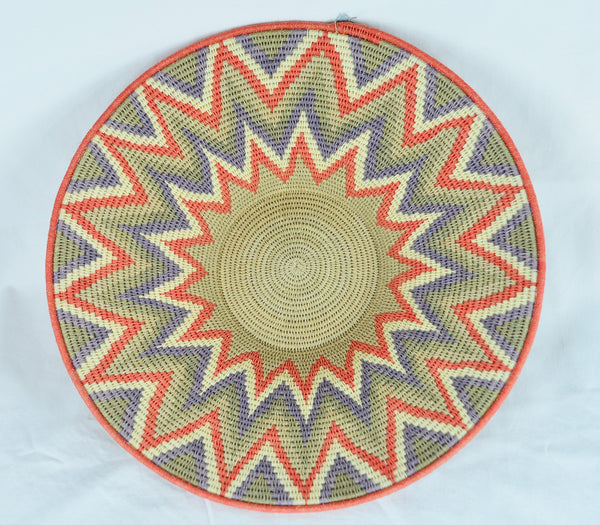 Handwoven Basket Orange 12 inch wide - Love Africa Decor & Gallery  - 2
