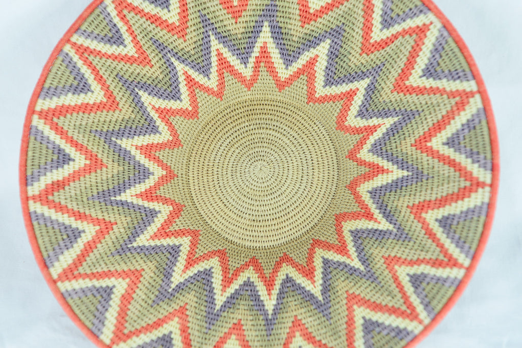 Handwoven Basket Orange 12 inch wide - Love Africa Decor & Gallery  - 1