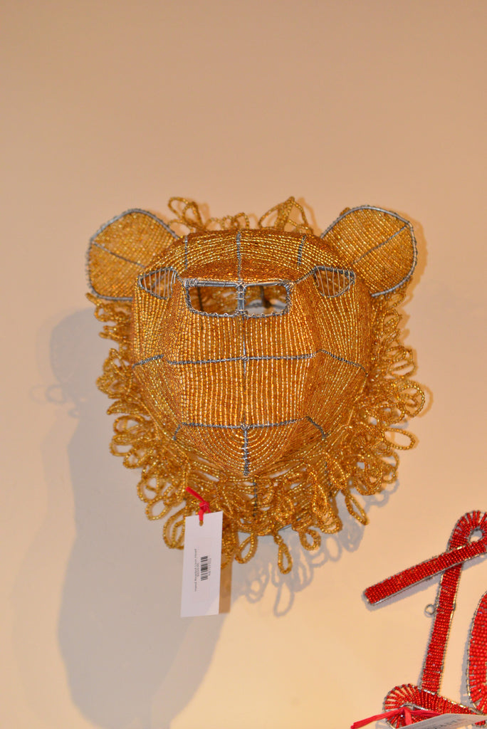Beaded Lion - Love Africa Decor & Gallery