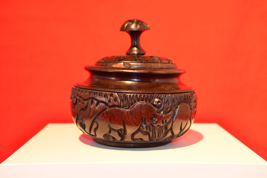 Hand Carved Bowl with Lid - Small - Love Africa Decor & Gallery