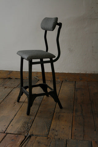 'Lyme Bay' block-printed 20th Century machinist's chair