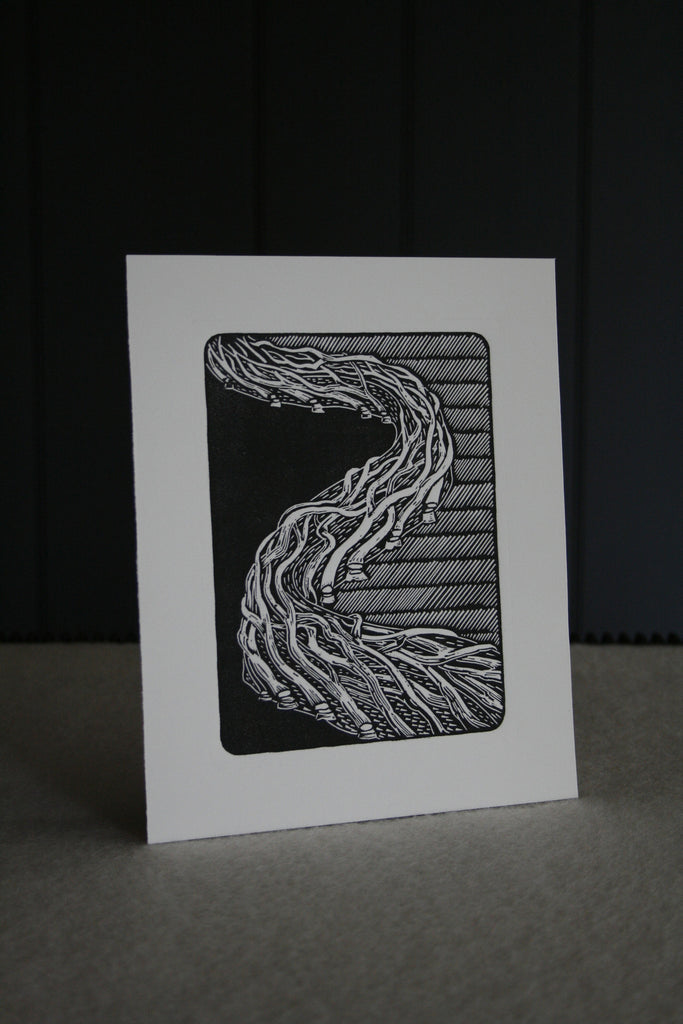 Copy of 'Laid Hedge' small, limited edition block print