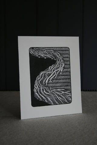 'Laid Hedge' limited edition block print