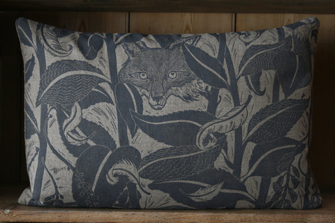 'Varx' hand block-printed cushion
