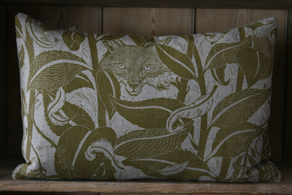 'Varx' block-printed cushion