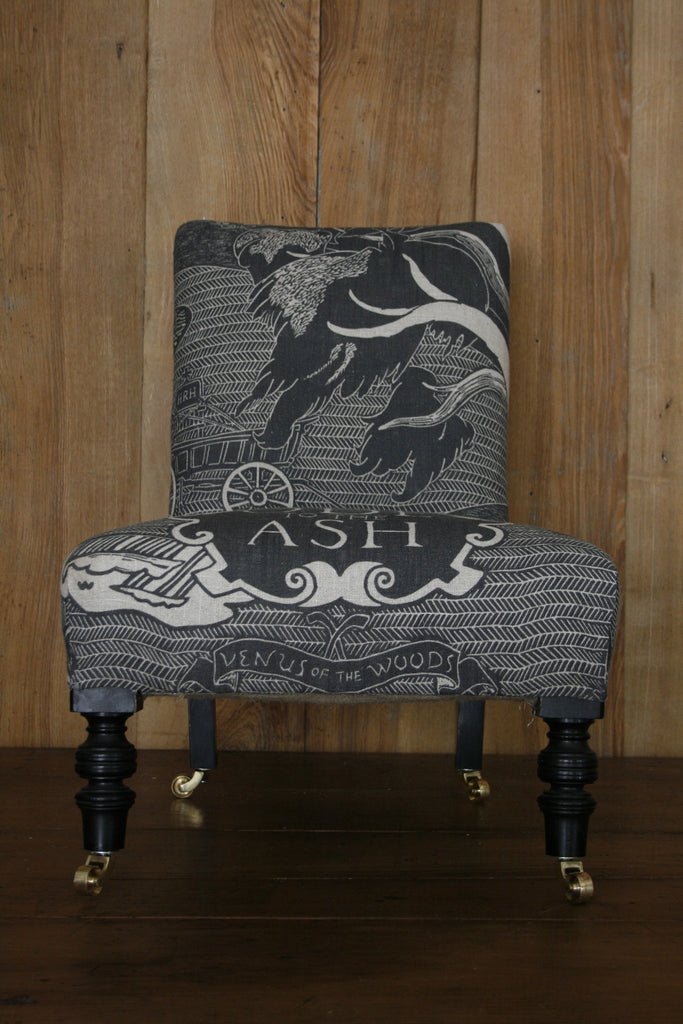 'Ode to the Ash' antique nursing chair. ' - Ode To The Ash' Antique Nursing Chair – Bonfieldblockprinters