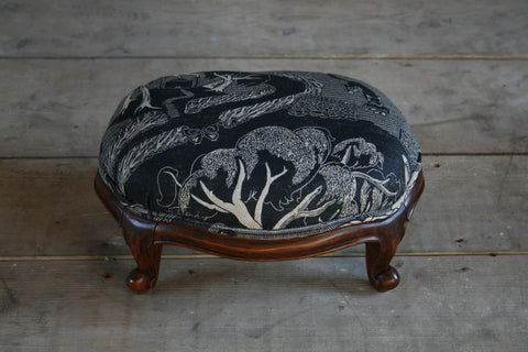 'Ode to the Ash' antique footstool