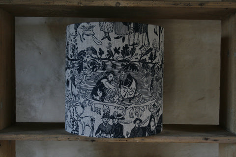 'Bloodlines' drum lampshade