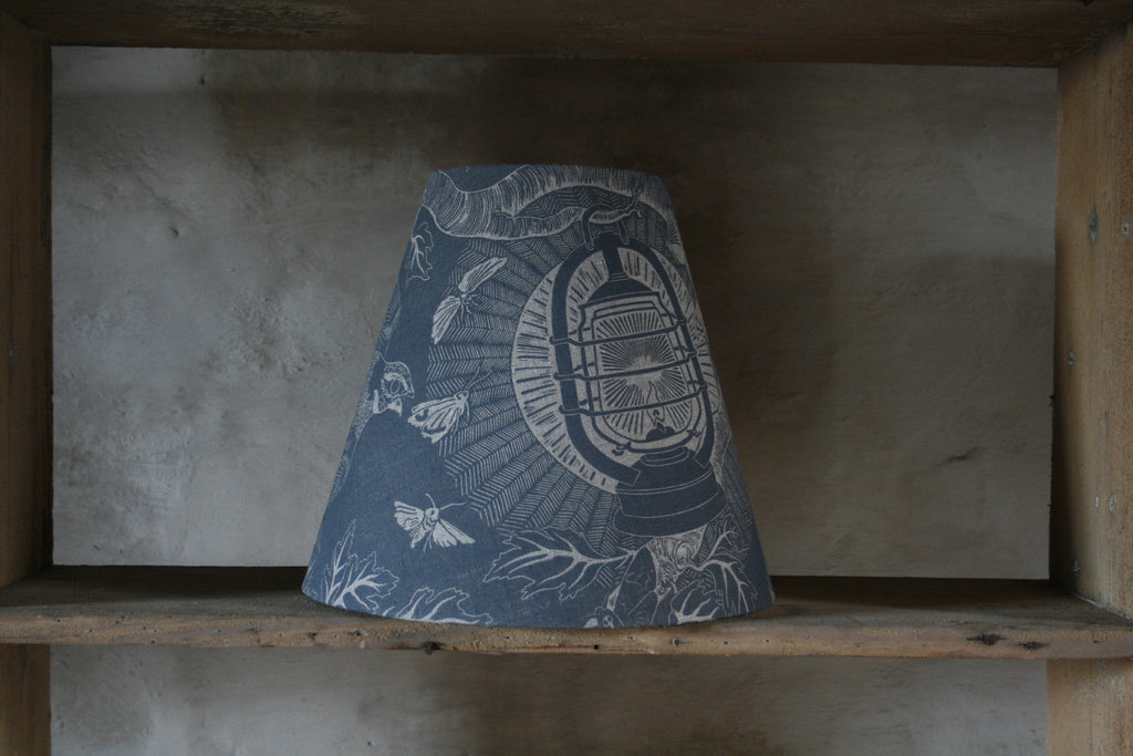 'Nightjars' tapered lampshade