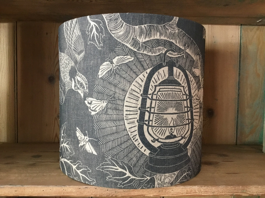 'Nightjars' drum lampshade