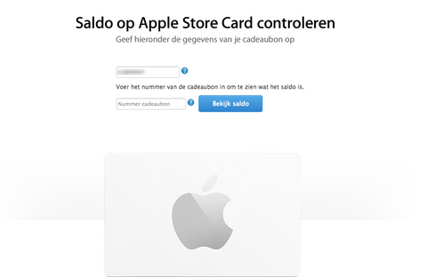 Apple store gift card saldo checken (nieuw)
