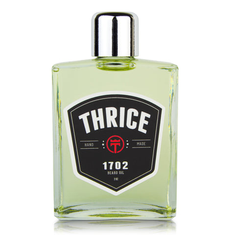 THRICE™ Beard Oil - 1702 Blend - 2 fl oz - All Natural Beard Oil for Men Helps Reduce Beard Itch & Soften Coarse Facial Hair for an Ultra Smooth Beard