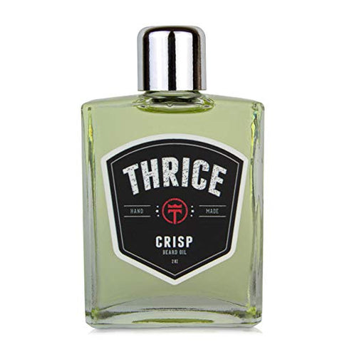 THRICE™ Beard Oil - Crisp Blend - 2 fl oz - All Natural Beard Oil for Men Helps Reduce Beard Itch & Soften Coarse Facial Hair for an Ultra Smooth Beard
