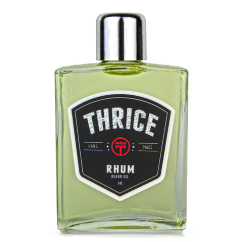 THRICE™ Beard Oil - Rhum Blend - 2 fl oz - All Natural Beard Oil for Men Helps Reduce Beard Itch & Soften Coarse Facial Hair for an Ultra Smooth Beard