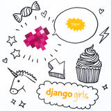 Pack of Django Girls Stickers