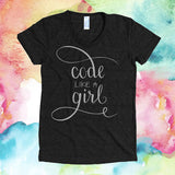 "Fitted ""Code Like A Girl"""