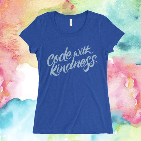 "Fitted ""Code With Kindness"""
