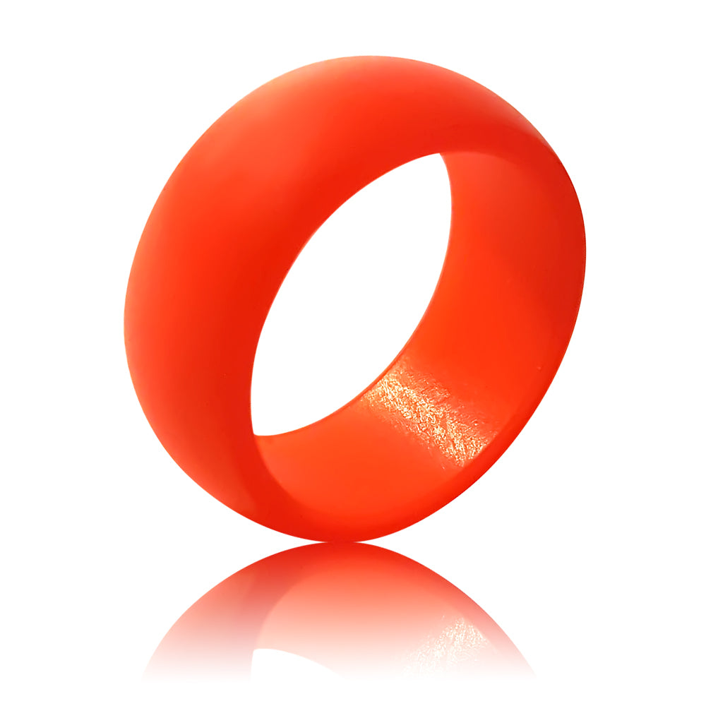 Rubber Diamonds Silicone Wedding Band Red