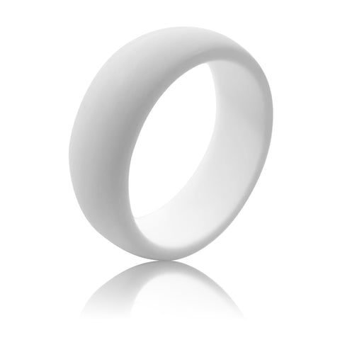 Men's Silicone Ring (9MM) - Pure White
