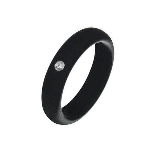 Women's Silicone Ring w/ Diamond Rhinestone