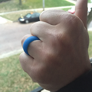 Thumbs Up for the Blue Silicone Ring