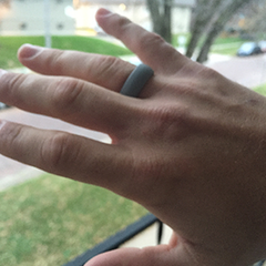 Space Gray Silicone Ring