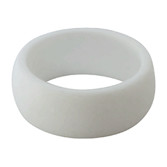 Rubber Diamonds Pure White Silicone Wedding Band