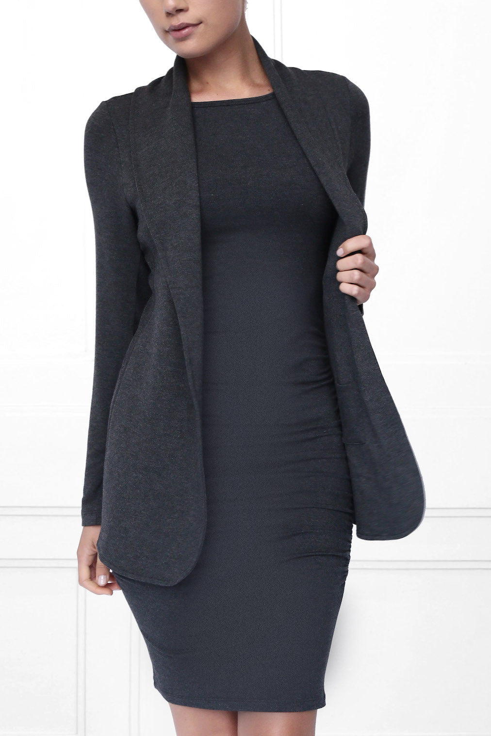 Whitney Luxe French Terry Fleece Car Coat - State & Manor