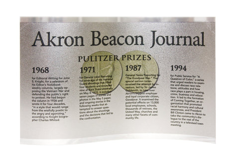 Akron Beacon Journal Pulitzer Prize Wavy Standup