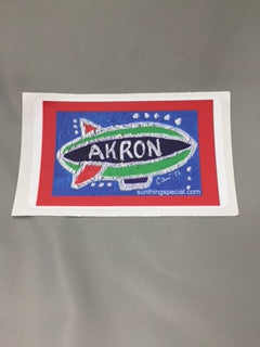 Akron Window Cling