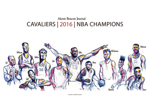 Cleveland Cavaliers Collectible NBA Champion Poster