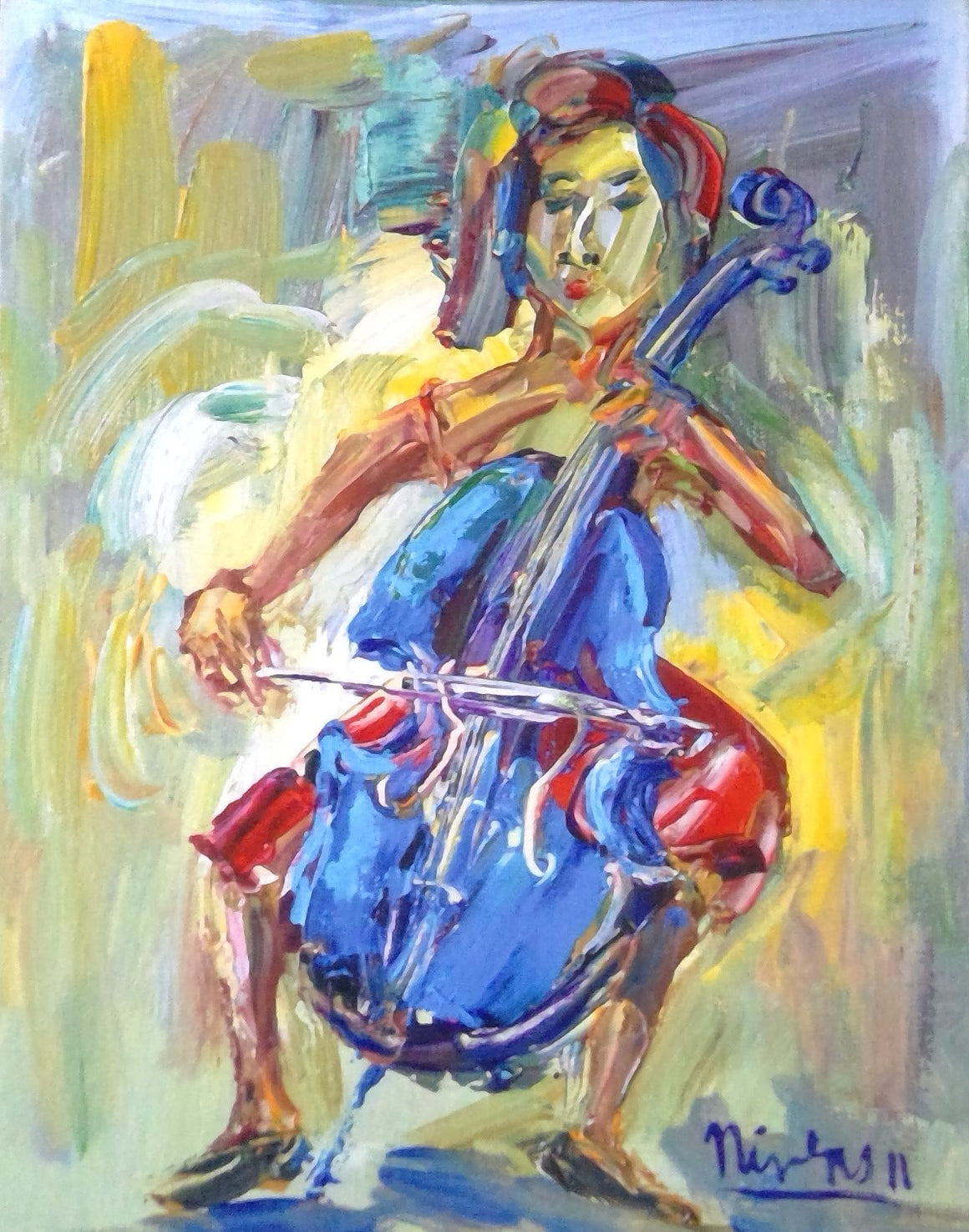 Blue Cello