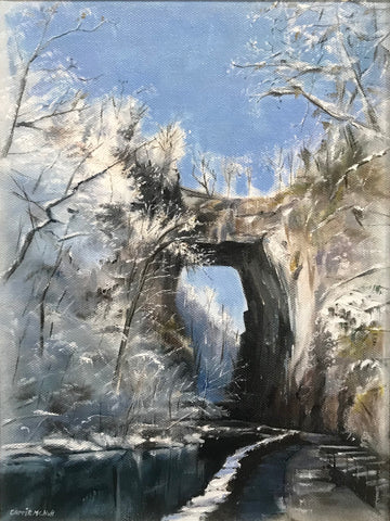 Beautiful Winter Natural Bridge