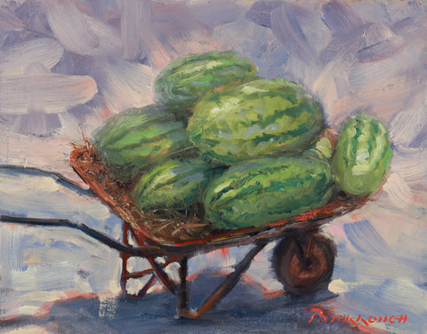 Wheelbarrow of Watermelons