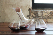 Decanter with Revolving Glasses Set