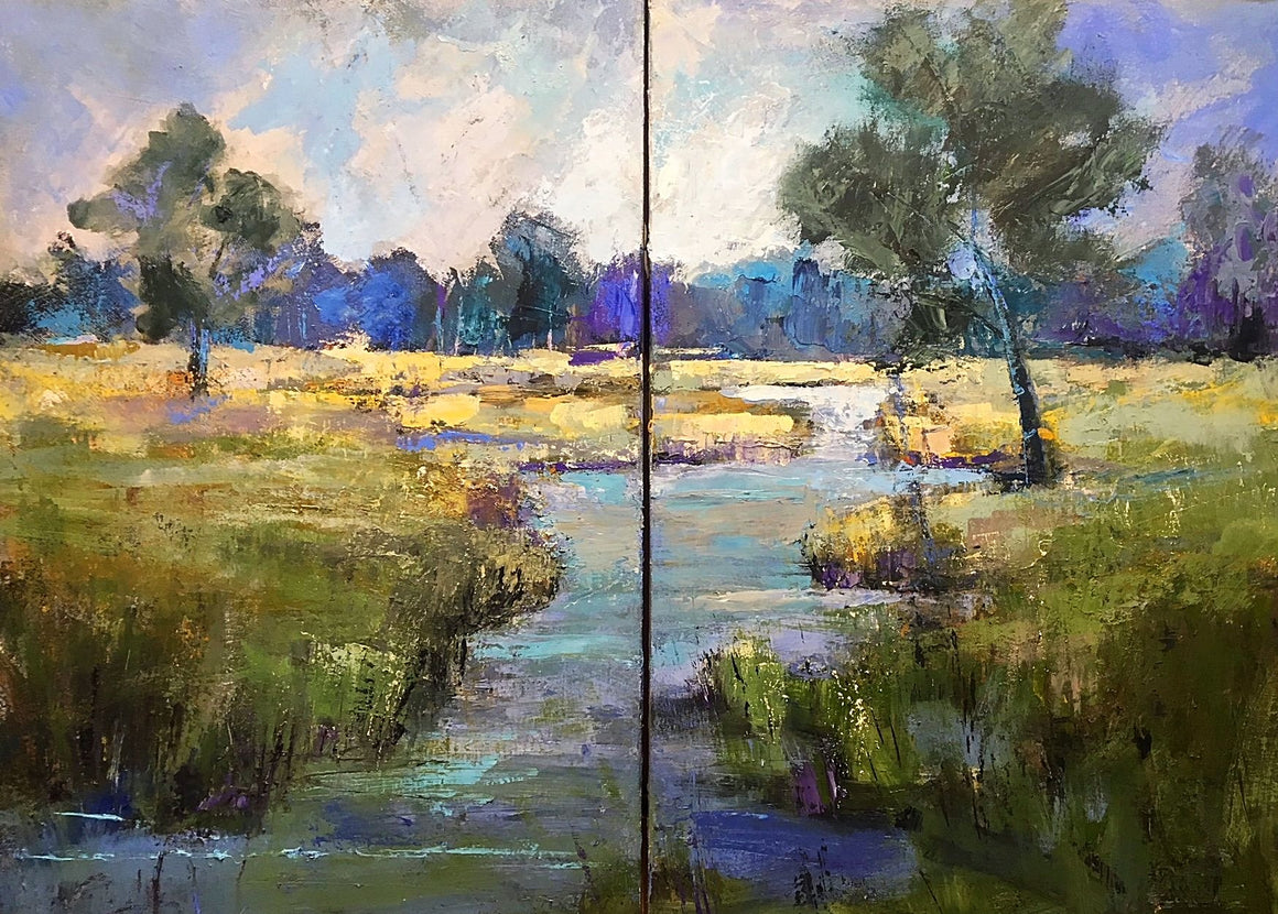 River Path - Diptych