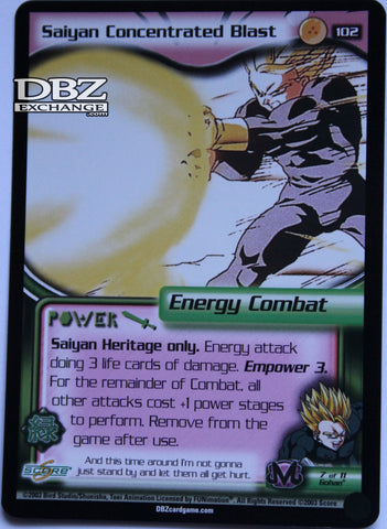 102 Saiyan Concentrated Blast