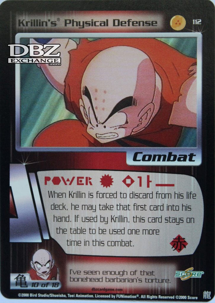 112 Krillin's Physical Defense