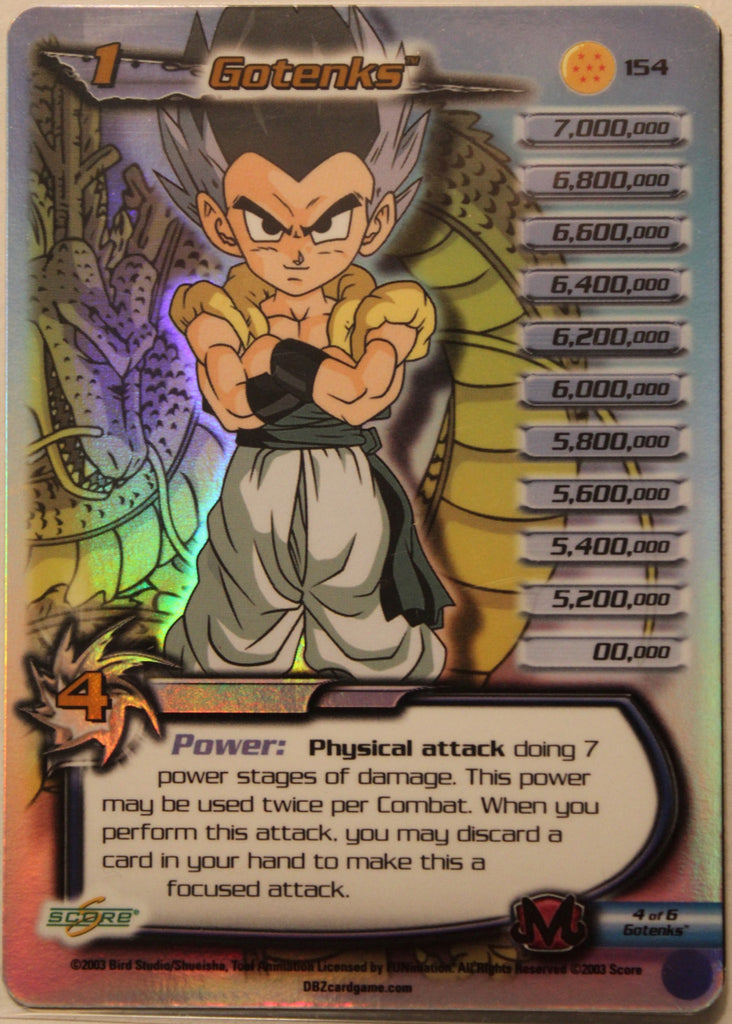 154 Gotenks Lv1 Hi-Tech Gate Foil