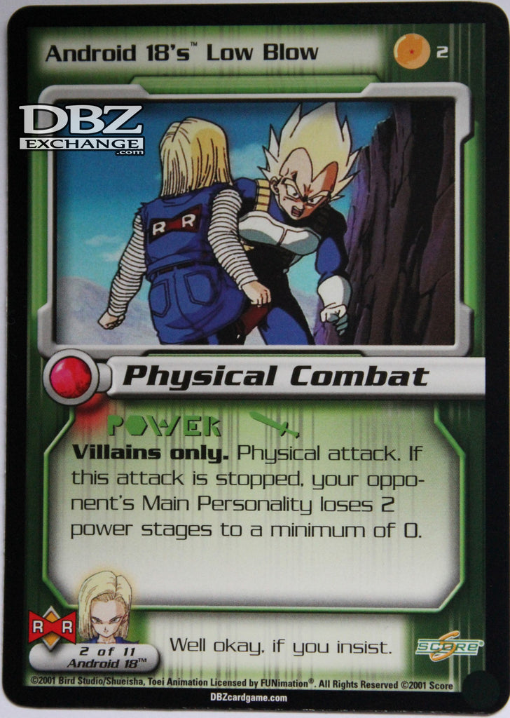 2 Android 18's Low Blow